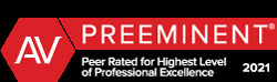 Peer Rated for Highest Level of Professional Excellence by Martindale-Hubbell